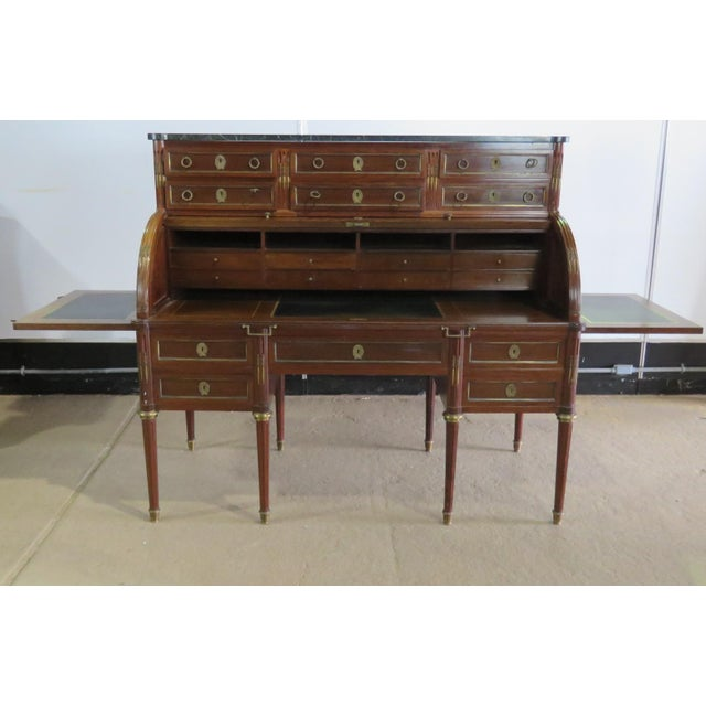 Maison Jansen Directoire Style Cylinder Desk For Sale - Image 10 of 11