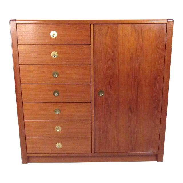 Mid-Century Modern Teak Gentleman's Chest For Sale