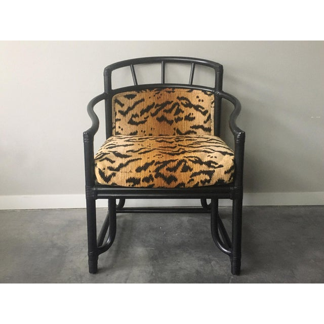 Organic Modern Black Bamboo + Animal Print Chair by Milling Road for Baker Furniture For Sale - Image 13 of 13