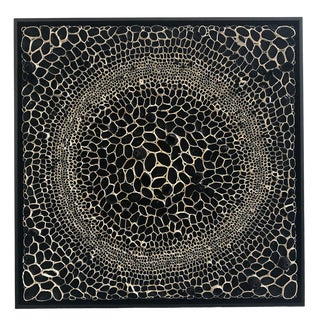 Amy Genser Black and White Square #12 Dimensional Paper Piece For Sale