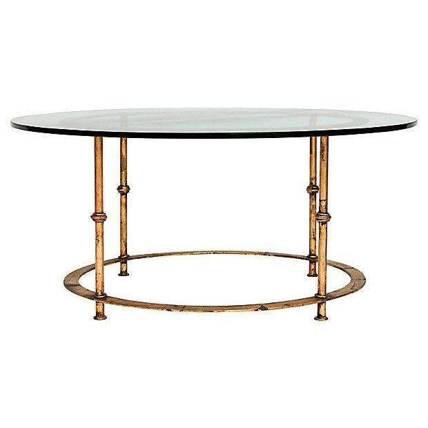 Gilded Bamboo-Style Coffee Table - Image 2 of 8