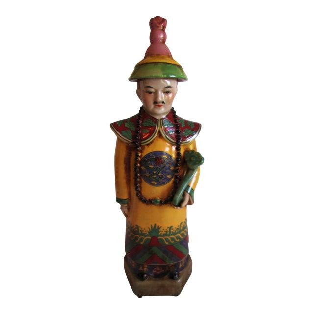 Chinese Ceramic Priest Figurine - Image 1 of 10