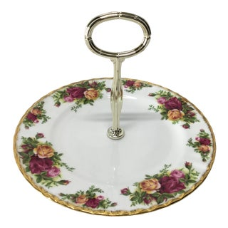 Old Country Roses Serving Tray Plate by Royal Albert For Sale