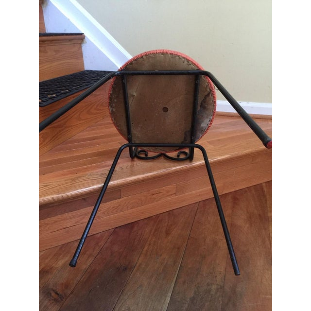 Salterini Style MCM Vintage Wrought Iron Chair - Image 5 of 6