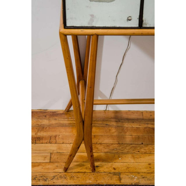 Mid-Century Modern Mid-century Mirrored Bar in the Style of Gio Ponti For Sale - Image 3 of 5