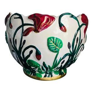 Art Nouveau French Porcelain Planter Jardinere For Sale