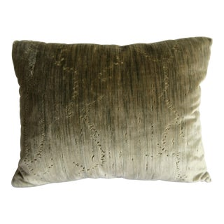Pair of Clarence House Silk Velvet Pillows