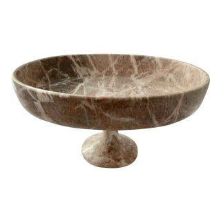 Contemporary Stone Compote / Footed Bowl For Sale