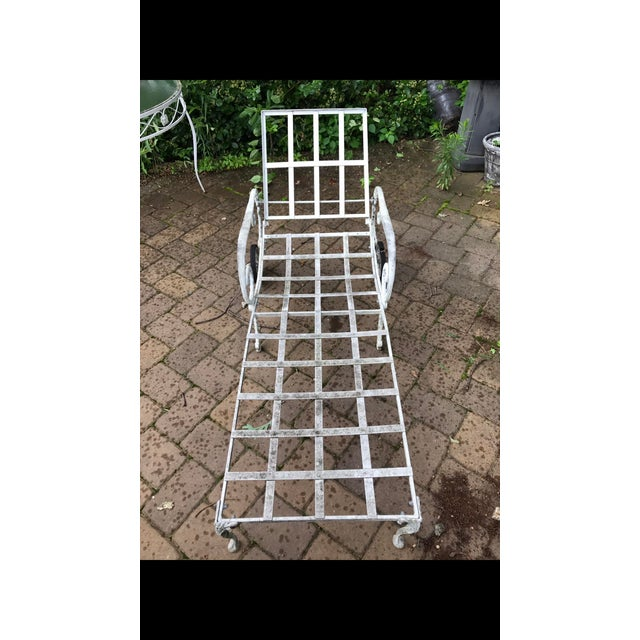 White Salterini Style Chaise Lounge Patio Sun Chair For Sale - Image 8 of 8