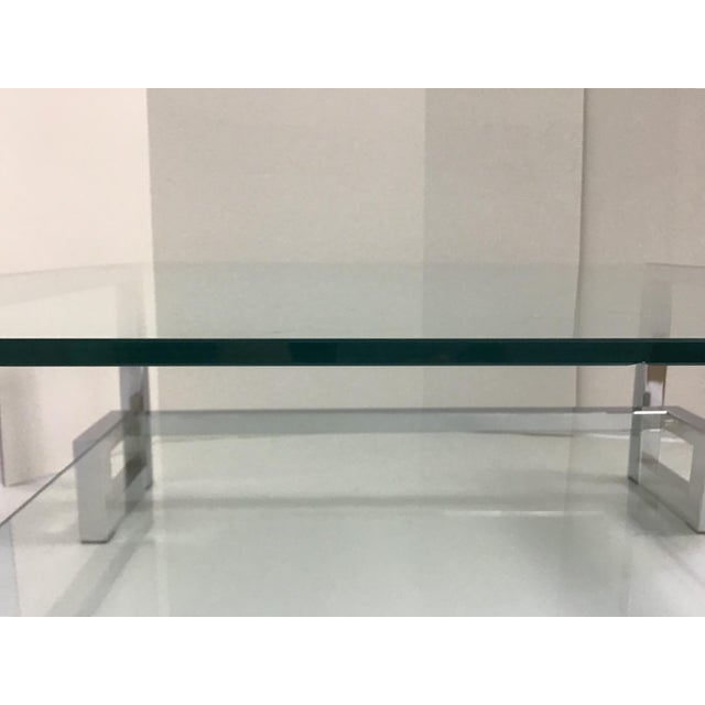 1970s Modern Chrome Greek Key Coffee Table For Sale - Image 12 of 13