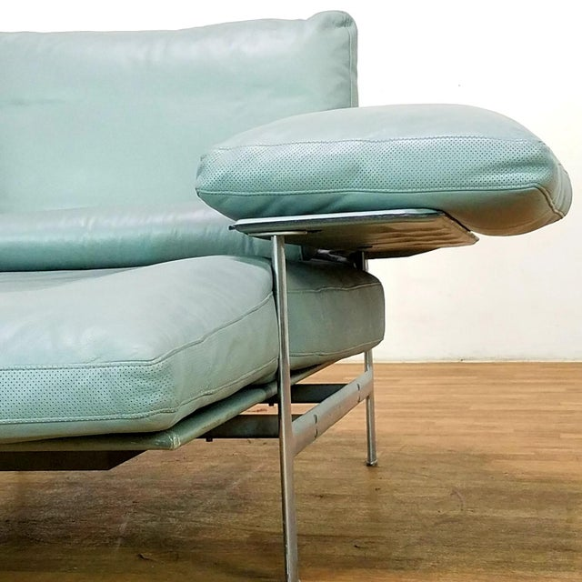 Bauhaus Paolo Nava for B&B Italia Diesis Beige Leather Chaise For Sale - Image 3 of 13