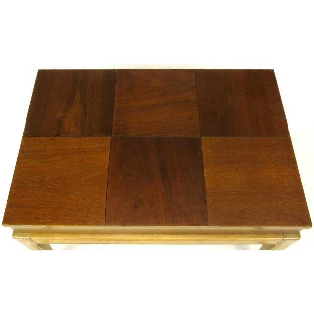 "John Van Koert John Van Koert ""Casa Del Sol"" Parquetry Walnut End Table with Opening Top For Sale - Image 4 of 9"