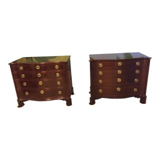 Baker Furniture Historic Charleston Collection 1907 Serpentine Chests - A Pair For Sale