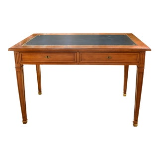 Louis XVI Style Green Leather Top Writing Desk For Sale