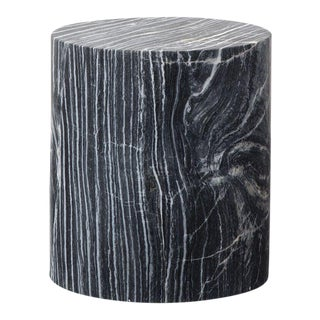 Boho Chic Solid Marble Side Table For Sale