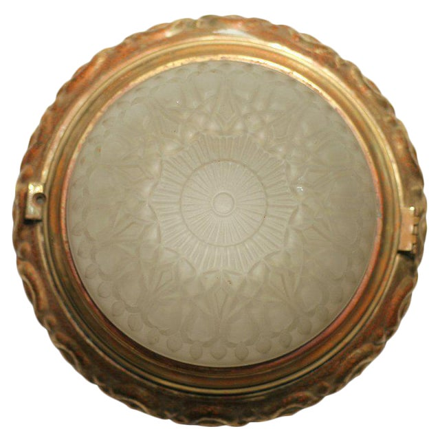Solid Bronze Dome Ceiling or Wall Light Fixture - Image 1 of 4