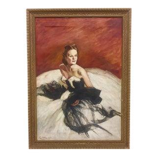 Vintage Oil on Canvas Portrait