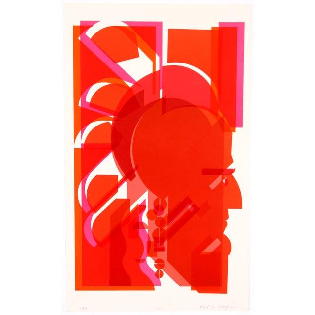 Vintage 1973 'Red Man' Print - Image 1 of 5
