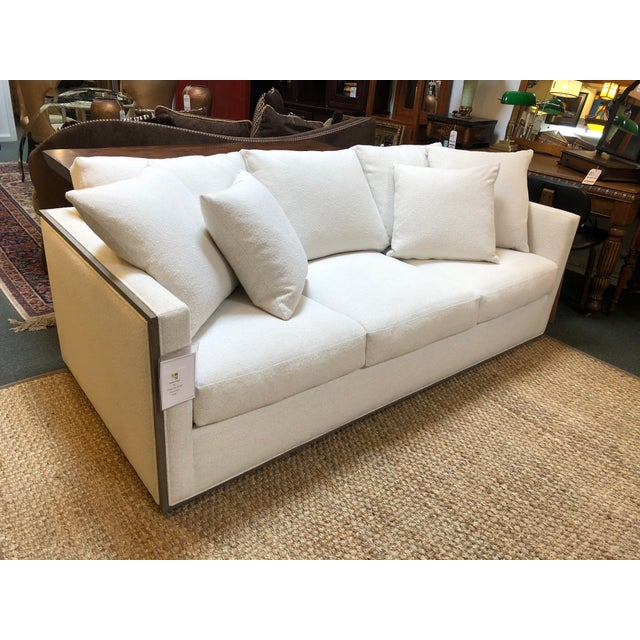 Contemporary Rene Cazares Furniture Woody Upholstered Sofa For Sale - Image 3 of 13