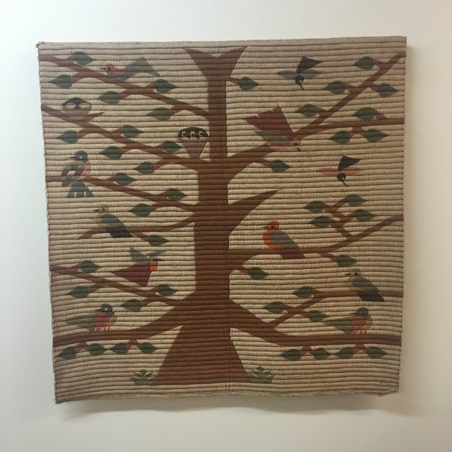 Vintage Tree of Life Wool Wall Hanging - Image 2 of 7