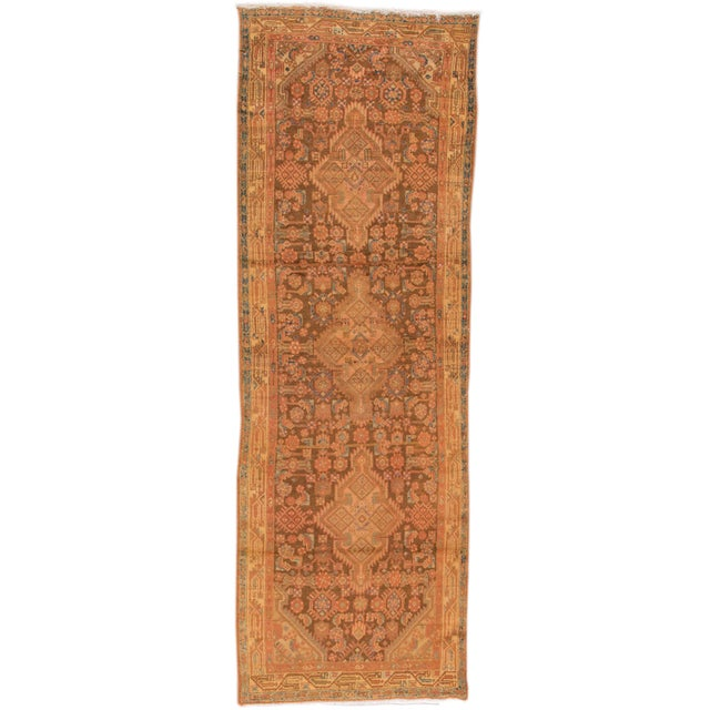 "Vintage Persian Hamadan Rug, 3'7"" x 10'10"" For Sale - Image 5 of 5"