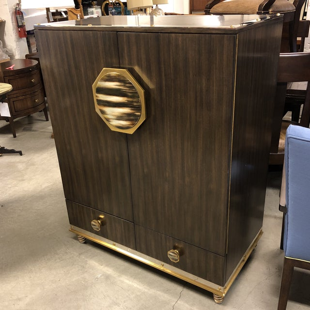 Design Plus Gallery presents New Barclay Street bar cabinet by Henredon. From the Jeffrey Bilhuber Collection. Straight...