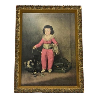 Antique Framed Lithograph For Sale