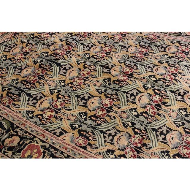 "William Morris Pak-Persian Sandi Black Red Wool Rug - 8'11"" x 10'2"" For Sale In New York - Image 6 of 8"