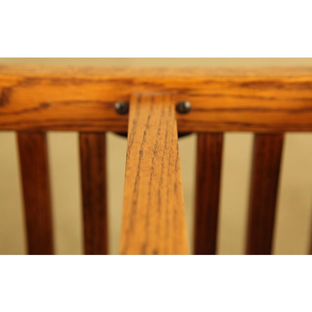 Mission Style Solid Oak Magazine Stand For Sale - Image 11 of 12