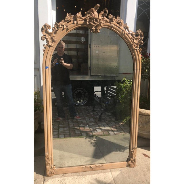 Antique 19th C Gustavian Swedish Empire Beechwood Mirror For Sale - Image 4 of 6