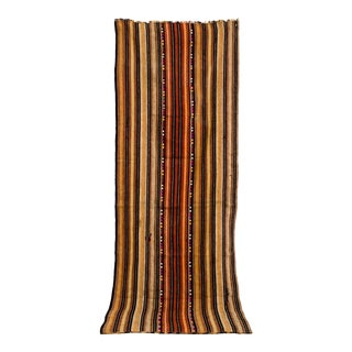 "Vintage Moroccan Hand Woven Striped Rug Runner - 2'10"" × 8'3"" For Sale"