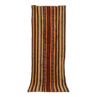 "Vintage Moroccan Handwoven Striped Rug Runner - 2'10"" × 8'3"" For Sale"