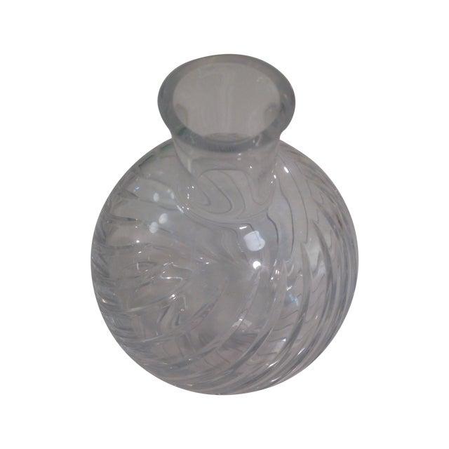 Baccarat Cyclades Crystal Ball Swirl Twist Vase - Image 1 of 6