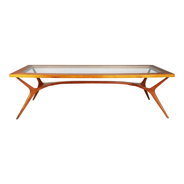 1950s Vintage Giuseppe Scapinelli Brazilian Sculptural Dining Table For Sale