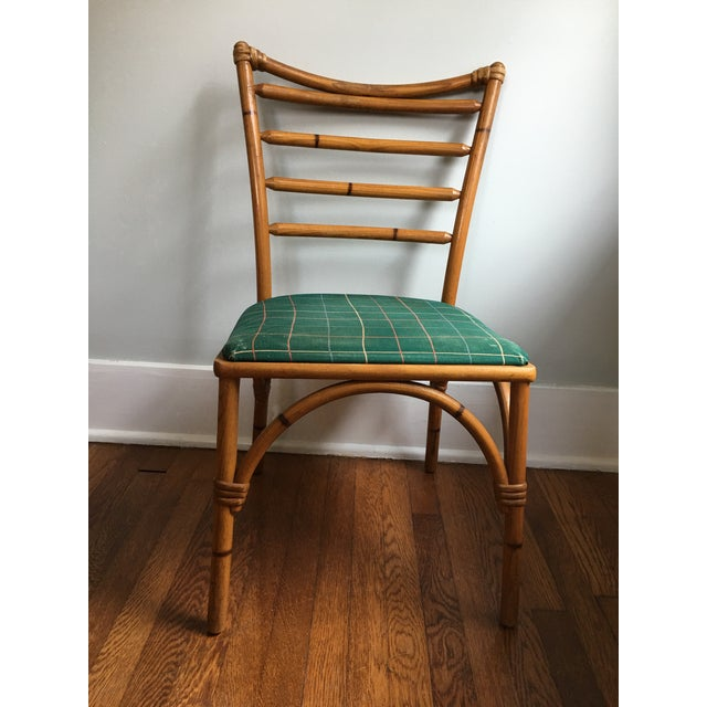 Thonet 1940s Boho Chic Scorched Bamboo Accent Chair For Sale - Image 4 of 13