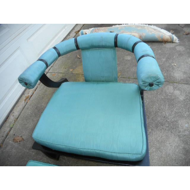 James Mont Style Asian Lounge Chairs - A Pair For Sale - Image 11 of 11
