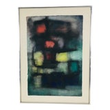 Image of Mid-Century Framed Watercolor Painting For Sale