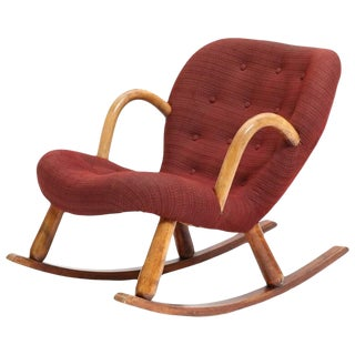 1940s Vintage Philip Arctander Clam Chair For Sale