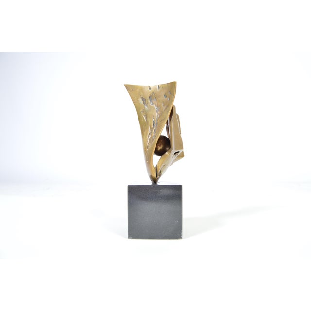 Abstract Abstract Bronze Sculpture by Jorge Castillo Signed, Circa 1970, Spain For Sale - Image 3 of 6