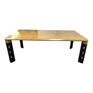 Mid-Century Modern Sawaya & Moroni Maple Veneer Dining Table For Sale