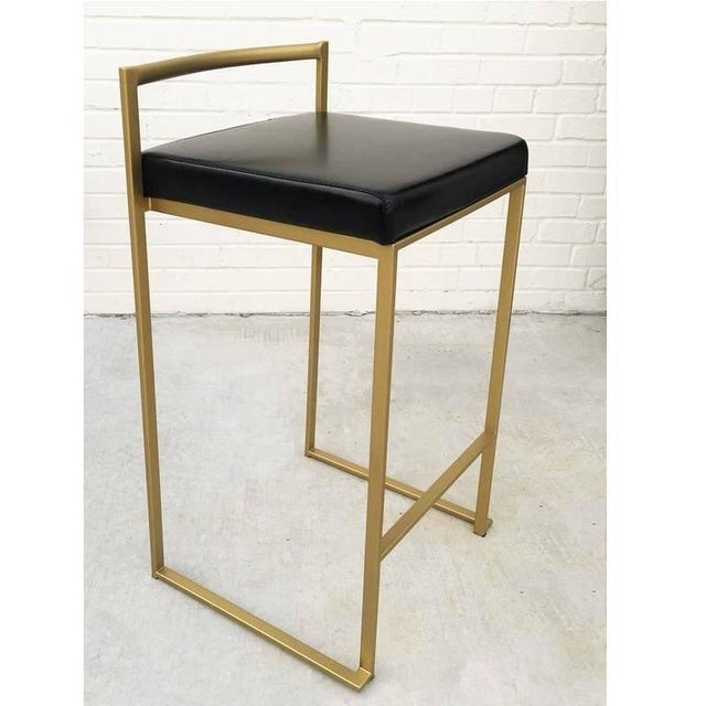 1990s Six Minimalist Modern Bar Stools by Enzo Berti For Sale - Image 5 of 9