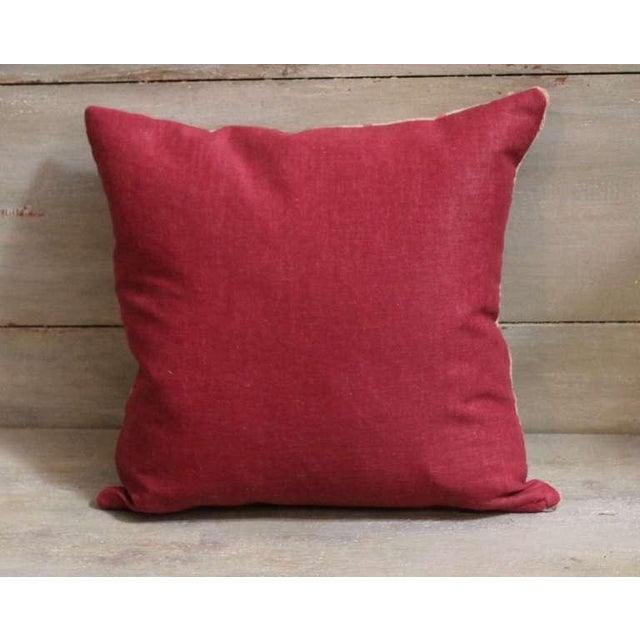Early Wide Ruins Navajo Woven Pillow For Sale - Image 4 of 4