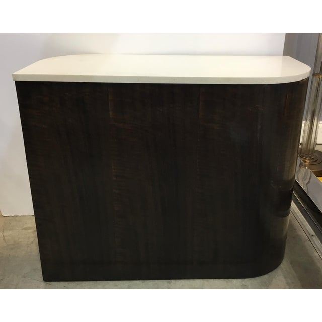 Caracole Caracole Modern Zephyr Wood and Stone Side Table For Sale - Image 4 of 4