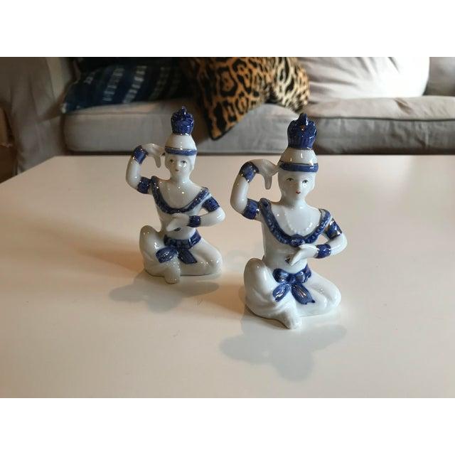 Vintage Porcelain Dancer Figurines - a Pair