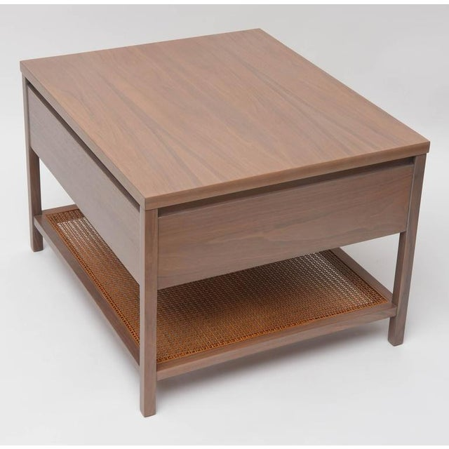 Brown Paul McCobb Greige Walnut Side Table for Calvin For Sale - Image 8 of 10