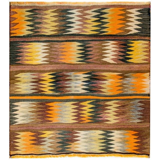 Yellow Wonderful Early 20th Century Antique Baluchi Kilim Rug For Sale - Image 8 of 8