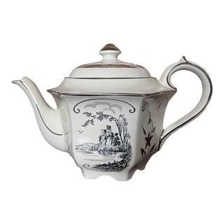 Vintage Sadler English Castle Scene Teapot For Sale
