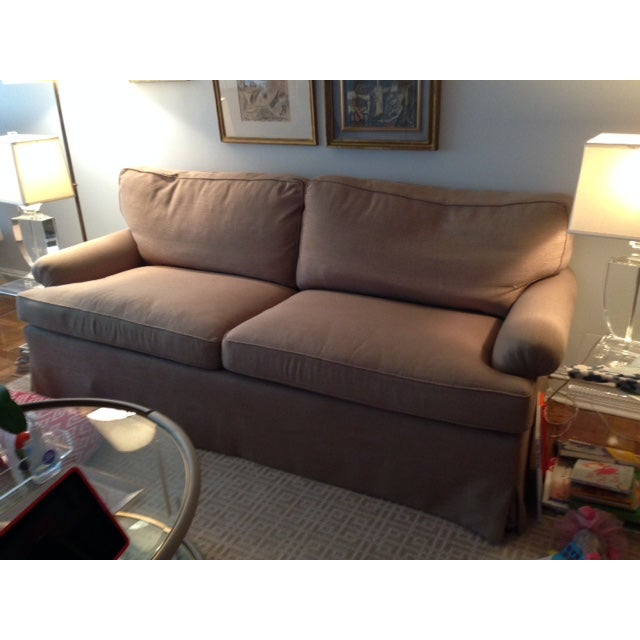 Newly Reupholstered Linen Sofa - Image 7 of 7