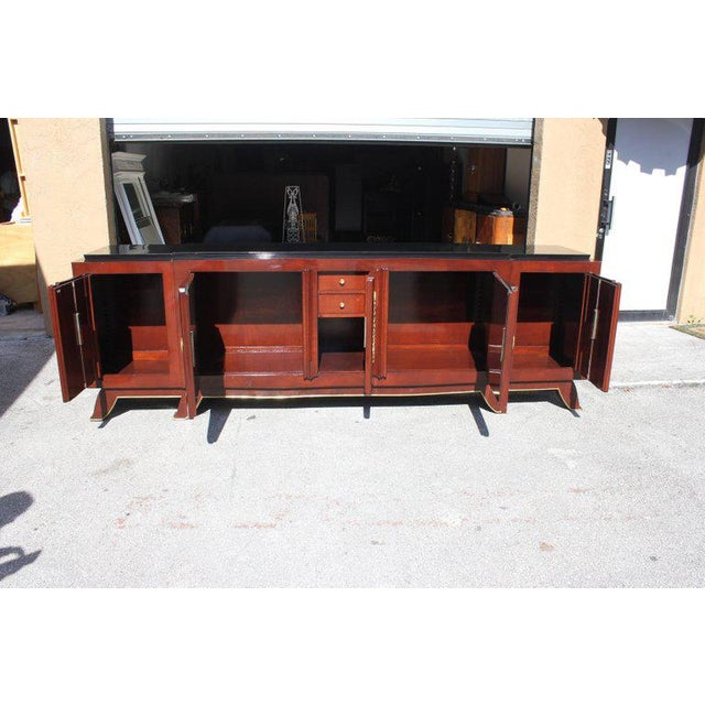 Bronze 1930s French Art Deco Jules Leleu Rosewood Sideboard For Sale - Image 7 of 11