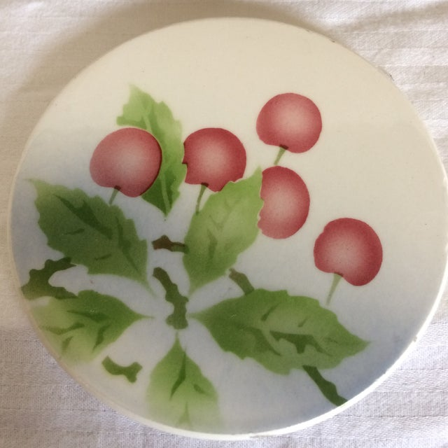 German Porcelain Silver Plated Serving Tray & Coasters - Set of 9 For Sale - Image 9 of 11